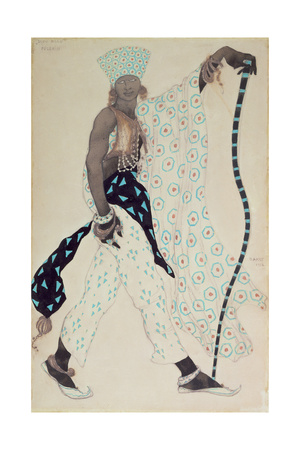 Costume Design for 'Le Pelerin' : Blue God, 1912 Giclee Print by Leon Bakst