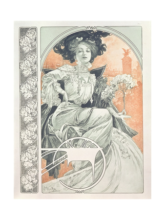 Plate 1 from 'Documents Decoratifs', 1902 Giclée-Druck von Alphonse Mucha