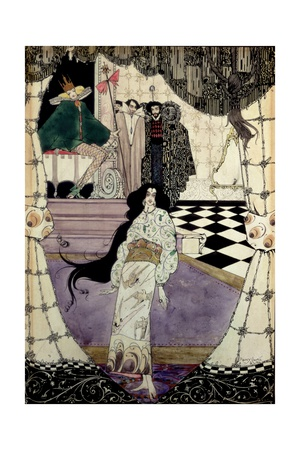 Illustration from the Little Mermaid, 1914 Giclee Print by Harry Clarke