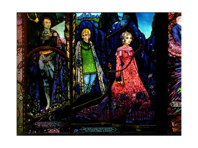 Detail from the Geneva Window Showing 'The Dreamers' by Lennox Robinson (1886-1958) Giclee Print by Harry Clarke