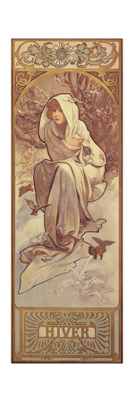 The Seasons: Winter, 1897 Lámina giclée por Alphonse Mucha