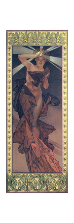 The Moon and the Stars: Morning Star, 1902 Lámina giclée por Alphonse Mucha