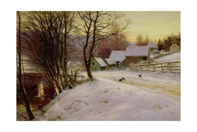A Winter's Morning Giclee Print by Joseph Farquharson