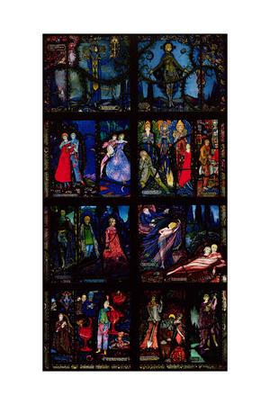 The Geneva Window, Eight Panels Depicting Scenes from Early Irish Literature, 1929 Giclee Print by Harry Clarke