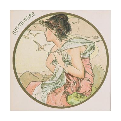 September, 1899 (Detail) Lámina giclée por Alphonse Mucha