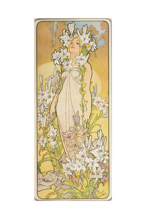 The Flowers: Lily, 1898 Giclee Print by Alphonse Mucha