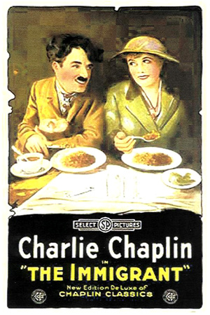 The Immigrant Movie Charlie Chaplin Plastic Sign Plastic Sign