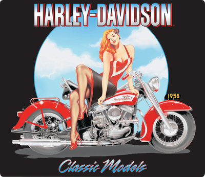 Harley-Davidson® - Classic Model's Babe Embossed Tin Sign Tin Sign