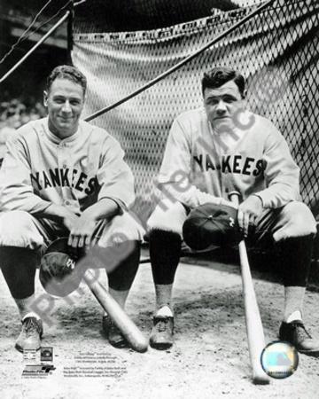 New York Yankees - Babe Ruth, Lou Gehrig Photo Photo