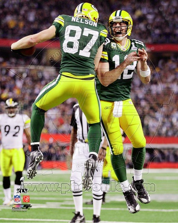 Green Bay Packers - Aaron Rodgers, Jordy Nelson Photo Photo