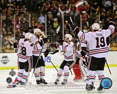 Chicago Blackhawks - Brent Seabrook, Jonathan Toews, Niklas Hjalmarsson, Patirck Kane Photo Photo