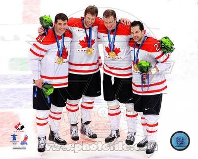 Team Canada - Danny Heatley, Patrick Marleau, Dan Boyle, Joe Thornton Photo Photo