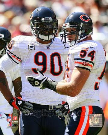 Chicago Bears - Brian Urlacher, Julius Peppers Photo Photo