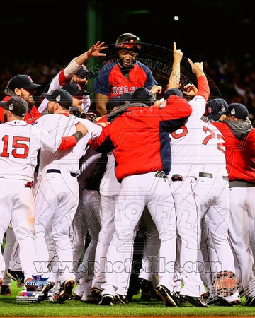 Boston Red Sox - David Ortiz, Shane Victorino, Dustin Pedroia, Jonny Gomes, John Lackey Photo Photo