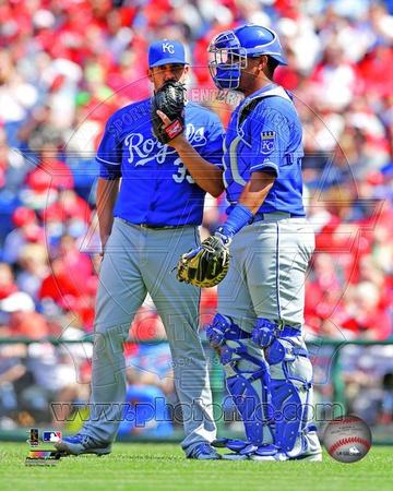 Kansas City Royals – James Shields, Salvador Perez Photo Photo