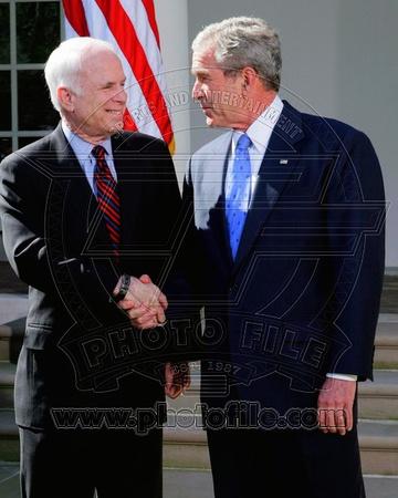 Historical - George W. Bush, John McCain Photo Photo