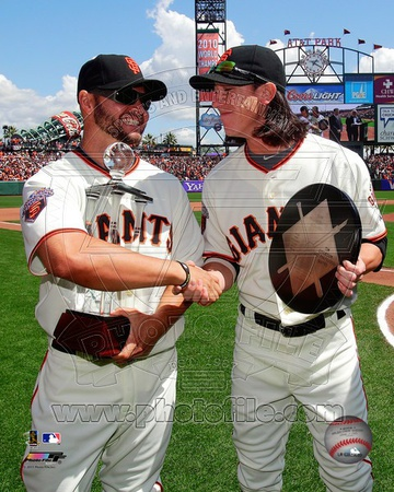 San Francisco Giants - Tim Lincecum, Cody Ross Photo Photo