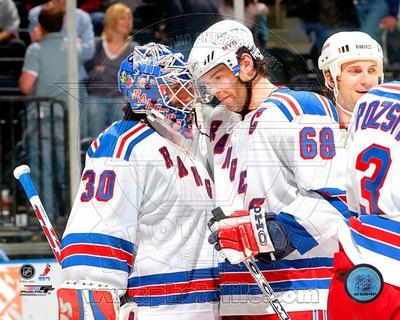 New York Rangers - Jaromir Jagr, Henrik Lundqvist Photo Photo