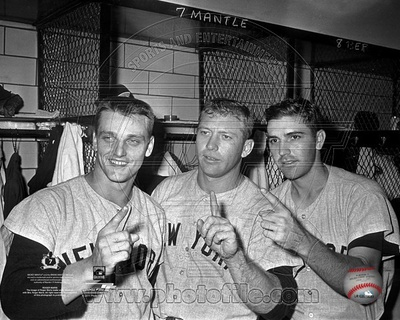 New York Yankees - Mickey Mantle, Roger Maris, Clete Boyer Photo Photo