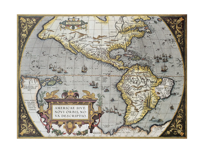 America Old Map, From Theatrum Orbis Terrarum, The First Atlas In The World Prints by  marzolino