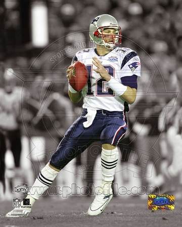 Black and white, color channel Tom Brady New England Patriots quarterback photo