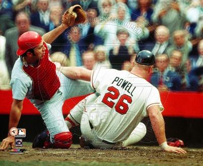 Cincinnati Reds, Baltimore Orioles - Johnny Bench, Boog Powell Photo Photo