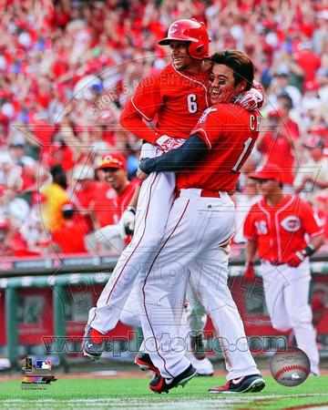 Cincinnati Reds - Shin-Soo Choo, Billy Hamilton Photo Photo