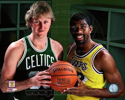 Boston Celtics, Los Angeles Lakers - Larry Bird, Magic Johnson Photo Photo