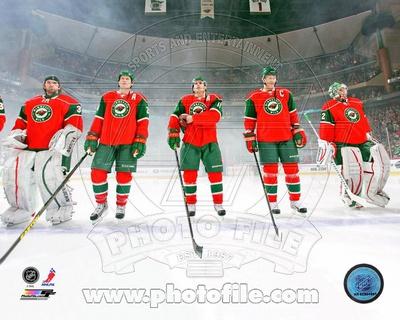 Minnesota Wild - Ryan Suter, Niklas Backstrom, Zach Parise, Mikko Koivu, Josh Harding Photo Photo