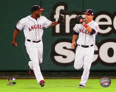 Los Angeles Angels - Torii Hunter, Mike Trout Photo Photo