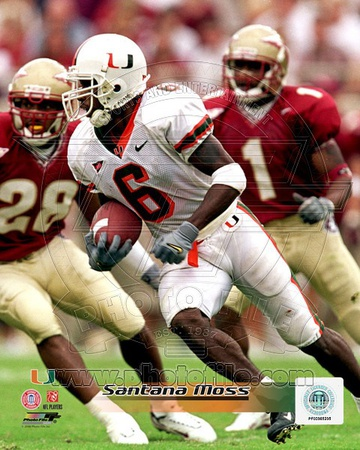 Miami Hurricanes - Santana Moss Photo Photo