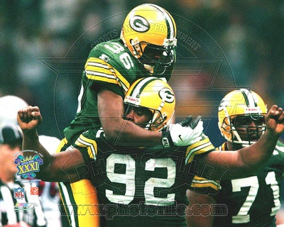 Green Bay Packers - Leroy Butler, Reggie White Photo Photo