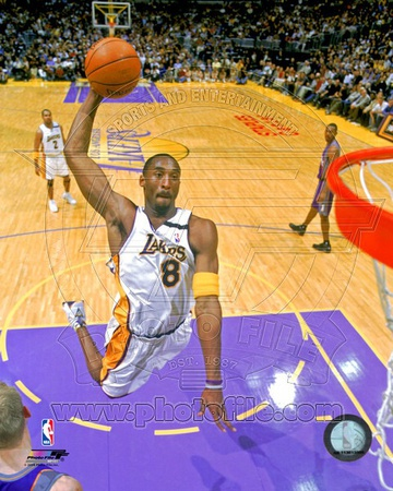 Kobe Bryant about to make an epic dunk sports basketball photo poster