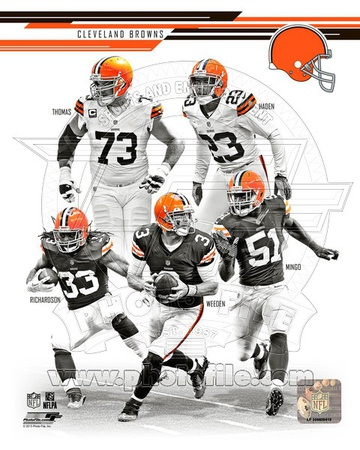 Cleveland Browns - Joe Thomas, Joe Haden, Trent Richardson, Brandon Weeden, Barkevious Mingo Photo Photo