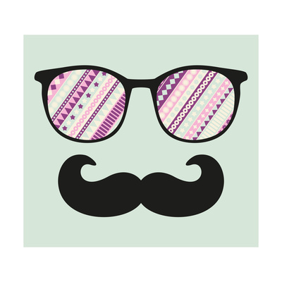 Retro Sunglasses With Reflection For Hipster Prints by  panova