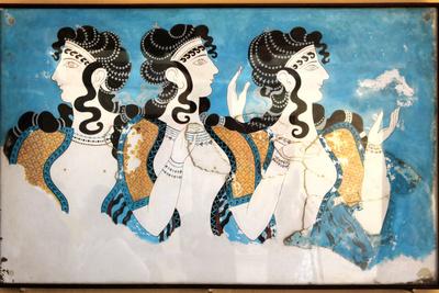 Minoan Ladies Mural Painting Fresco Prints by  Hannuviitanen