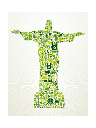 Brazil Go Green Concept Illustration Posters by  cienpies