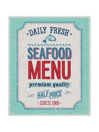 Vintage Seafood Poster Prints by  avean