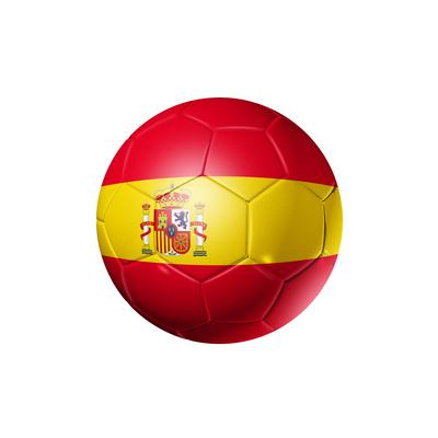 Soccer Football Ball With Spain Flag Art by  daboost
