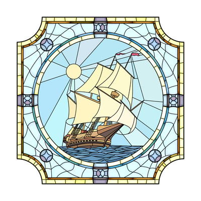 Illustration Of Sailing Ships Of The 17Th Century Posters by  Vertyr