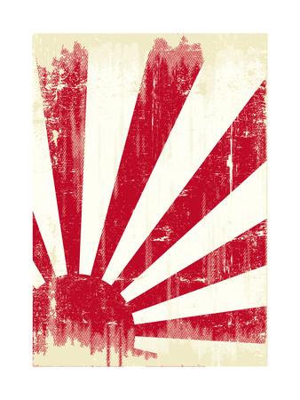 Grunge Japan Flag. An Old Japan Grunge Flag For You Prints by  TINTIN75
