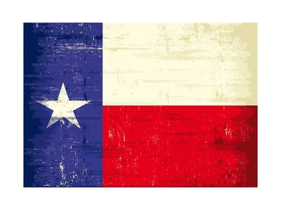 Texas Grunge Flag Prints by  TINTIN75