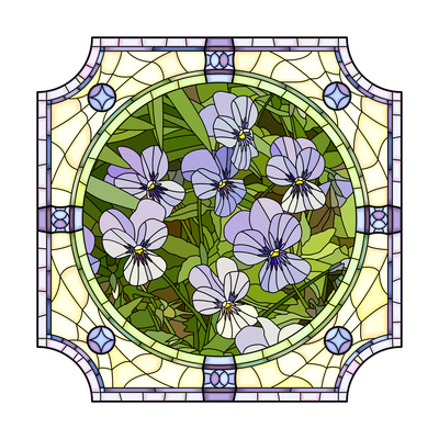 Flower Purple Pansies Prints by  Vertyr