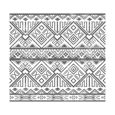 Abstract Geometric Seamless Aztec Pattern. Ikat Style Pattern Posters by cherry blossom girl