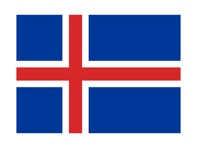 Sovereign State Flag Of Country Of Iceland In Official Colors Prints by  Speedfighter