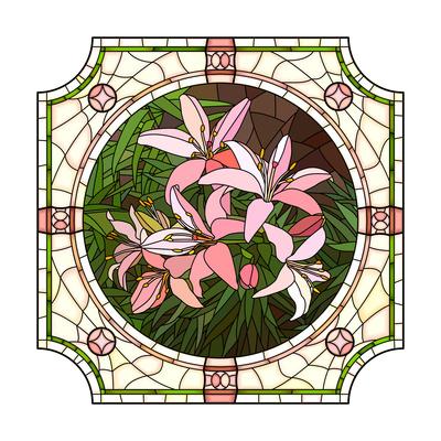 Flower Pink Lilies Art by  Vertyr