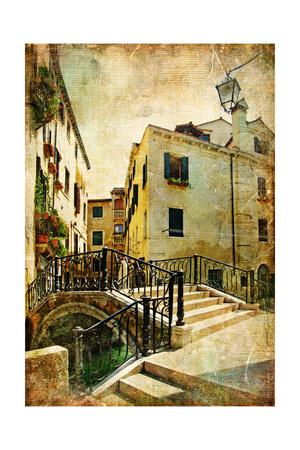Venetian Channels - Artwork In Retro Style Prints by  Maugli-l