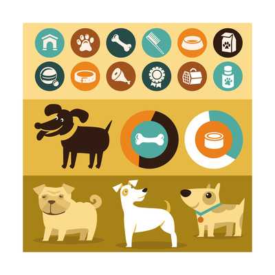 Infographics Elements - Dogs Prints by  venimo