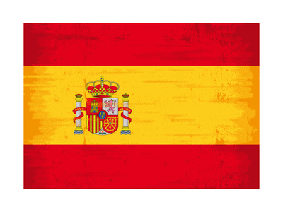 Spanish Grunge Flag. A Flag Of Spain With A Texture Posters by  TINTIN75