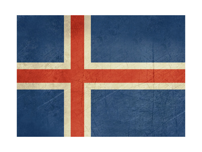 Grunge Sovereign State Flag Of Country Of Iceland In Official Colors Prints by  Speedfighter